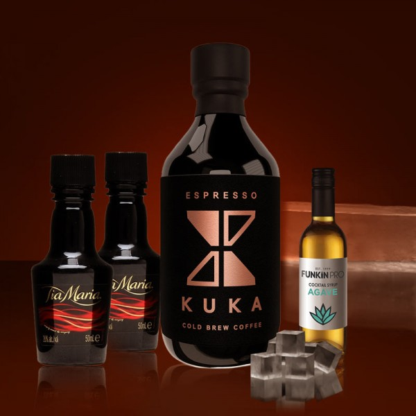 Kuka Coffee, Tia Maria, Agave Syrup for Mexpresso Martini